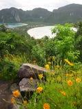 viewpont Таиланда phi острова Стоковые Изображения