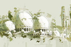 091028a-002. Views of Abu Dhabi - Sheikh Zayed Mosque Vector Illustration