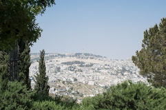 Views across Jerusalem Royalty Free Stock Photo