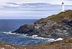 Views across Stinking Cove to Trevose Head from Dinas Head North Cornwall England (UK) Royalty Free Stock Image