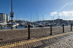 Sutton harbour in the barbican plymouth devon uk royalty free stock images
