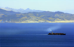 Views of Afrique from Algeciras, Cádiz Royalty Free Stock Image
