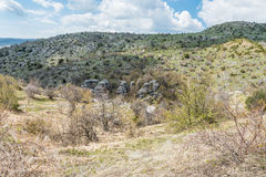 Views along Beloi hiking trail in Zagori area in Greece Royalty Free Stock Images