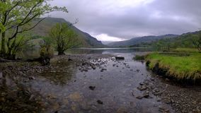 Views along Llyn Gwynant, Wales royalty free stock photos