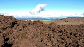 Views along the trail of the Tongariro Alpine Crossing, New Zeal. And royalty free stock photography