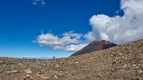 Views along the trail of the Tongariro Alpine Crossing, New Zeal. And royalty free stock image