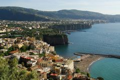Views of Amalfi coast Stock Images