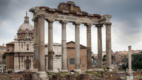 View of ancient Rome. Views of the ancient city of Rome on a stormy day stock photography