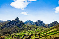 Views  through the Andes Ecuador, South America Royalty Free Stock Photos
