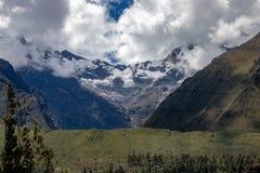Views of the Andes Mountains Near Machu Picchu. The Andes Mountains as seen from the train on the way to Machu Picchu, Peru royalty free stock photography