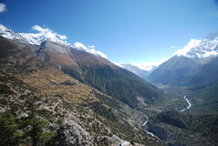 Views from the Annapurna, Nepal Stock Image
