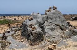 Views around Aruba coastline - rocks Stock Image