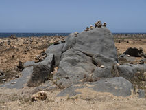 Views around Aruba coastline - rocks Stock Photo