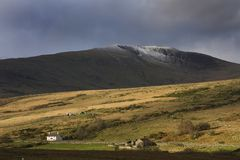 Views around Capel Curig. In winter when the sun comes out Stock Photography