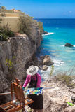 Views around Curacao Caribbean island Stock Image