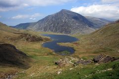 Views around Cwm Idwal Stock Photos