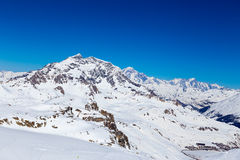 Views around Espace Killy. Iews around Espace Killy the ski resorts of Tignes and Val D'Iser Royalty Free Stock Images