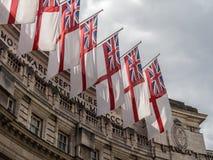 Views around London flags Stock Image