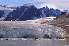 Views around Monaco Glacier. Spitsbergen, Svalbard, Arctic Circle stock image