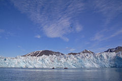 Views around Monaco Glacier. Spitsbergen, Svalbard, Arctic Circle royalty free stock photos