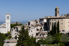 Views of Assisi. Views of the medieval town of Saint Francis Royalty Free Stock Photography