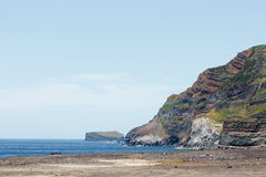 Views of the Atlantic coast of the Azores Portuguese archipelago. The island volcano Royalty Free Stock Images
