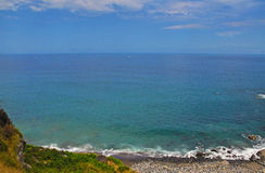 Views of the Atlantic ocean from a cliff Stock Photo