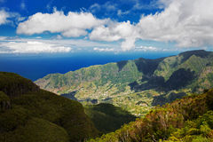 Views of the Atlantic Ocean from a mountain Stock Image