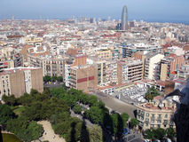 Views of Barcelona. Barcelona cityscape, Europe Stock Images