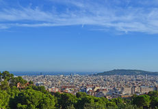 Views of Barcelona from Parc Guell Stock Image