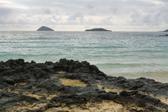 Views from beach at Floreana island. Galapagos, Ecuador stock image