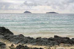 Views from beach at Floreana island Stock Images