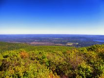 The views from Bear Mountain Connecticut. The views from Bear Mountain is a prominent peak of the southern Taconic Mountains. It lies within the town of royalty free stock images