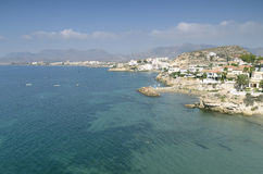 Views of the beautiful coast of San Juan de Los Terreros Royalty Free Stock Photography