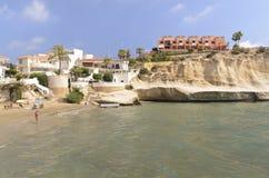 Views of the beautiful coast of San Juan de Los Terreros Stock Image