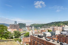 Views of Bilbao city, Bizkaia, Basque Country, Spain. Royalty Free Stock Photos