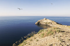 Views of the Black sea and cape kapchyk, Russia Stock Photography