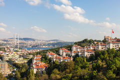 Views of the Bosphorus bridge and Istanbul Royalty Free Stock Images