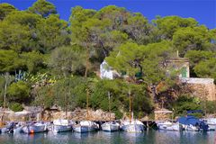 Boats in Cala Figuera, Mallorca. Views of Cala Figuera, Majorca Stock Photo