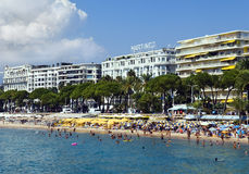 Views of Cannes from the embankment Stock Photography