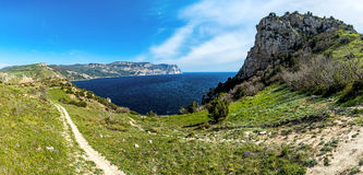 Views of the Cape Aya. Crimea Royalty Free Stock Photo