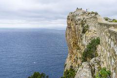 Views of Cape formentor in the tourist region of Mallorca, locat. Ed northeast of the island Royalty Free Stock Images