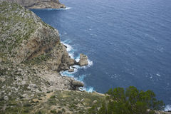 Views of Cape formentor in the tourist region of Mallorca, locat. Ed northeast of the island Royalty Free Stock Photos