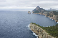 Views of Cape formentor in the tourist region of Mallorca, locat. Ed northeast of the island Royalty Free Stock Photo