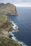 Views of Cape formentor in the tourist region of Mallorca, locat. Ed northeast of the island Royalty Free Stock Photography