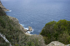 Views of Cape formentor in the tourist region of Mallorca, locat. Ed northeast of the island Royalty Free Stock Image
