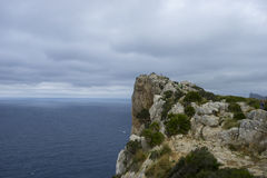 Views of Cape formentor in the tourist region of Mallorca, locat Royalty Free Stock Photos