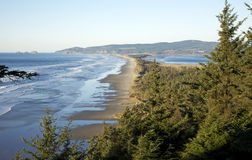 Views from Cape Lookout. Looking down Cape Lookout towards Netarts Bay on the Oregon coast Stock Images