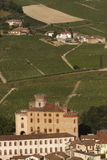 Views of the Castle of Barolo. In the Langhe Royalty Free Stock Photography