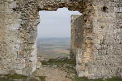 Views in the Castle Gormaz. In Soria, Spain Royalty Free Stock Photo